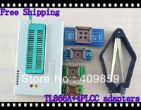 Free shipping V6.0 Russian Manual TL866A+PLCC20/28/32/44+PLCCclip USB Universal Bios programmer ICSP FLASH\EEPROM SOP\PLCC\TSOP