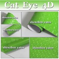 Green 4D Cat Eye 3m Vinyl Wrap/ 4D Cat Eye adhesive wrap With Air Free Bubbles