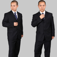 X601 male suits three button black slim commercial work wear formal work wear