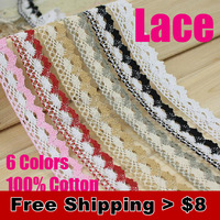 10 meters/ lot 2.5 cm width Lace for fabric withnot elastic 6 colors warp knitting DIY Garment Accessories free shipping #1609