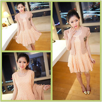 2013 summer gentlewomen fashion slim one-piece dress twinset female basic skirt