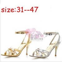 Free shipping 2013 new arrival  Women's sandals  shoes  high-heeled shoes  plus size 31 - 47