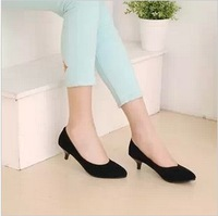 Free shipping New arrival spring sweet thin heels with the single shoes ol work shoes plus size women's shoes 34 - 47