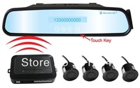 Wireless Car Rear Parking Sensor LCD Display 4 Sensors Backup CAR Radar with Call Alert,TTS,MP3,FM,Touch Keys