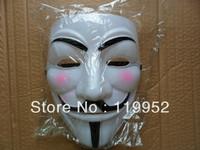 20pcs Guy fawkes V vendetta team pink blood scar masquerade masks Halloween carnival Vendetta mask