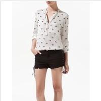 Wholesale Autumn women's fahion blouse,lady's shirt/ plus size blouse 8566