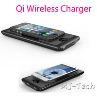 Free Shipping 2 in 1 6000mah Power bank+ Qi Standard Wireless Charger PAD For  for Nokia Lumia 920/820 iPhone 4 5 Samsung Galaxy