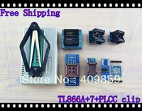 Free shipping V6.0 Russian Manual TL866A+SOP8/16+PLCC32/44+PL clip+SOP8&16 USB Universal Bios programmer ICSP FLASH\EEPROM TSOP