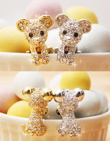 For samsung   note2 s4 iphone5 bear apple's mobile phone dust plug earphones hole