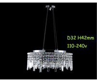 Free Shipping/LED Pendant Lights/Contemporary Lighting/Dining Room/K9 Crystal/Durable Base/Export Quality/Oval Design/Hanging/S#