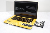 Fashion Mini Notebook Laptop with Intel Atom D2500 Dual Core 1.86Ghz 4GB RAM 500GB HDD DVD-RW WIFI Webcam