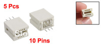 5 Pcs 10 Pin PCI AGP Slot Solder Socket Card Edge Connector Beige