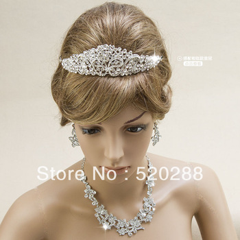 HOT!Bride jewelry, diamond crown  bride accessories,wedding flower