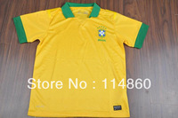 13/14 seasons best thailand quality Brazil home yellow and away player versions soccer jersey