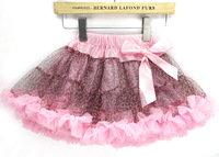 Top Fashion,5pcs/lot,fashion leopard+5 sizes,baby girls fashion tutu skirt + very fluffy,kids pettiskirt,childrens clothing