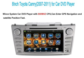 8Inch Car DVD player for Toyota Camry(2007-2011) with GPS,Bluetooth,IPOD,TV,RDS