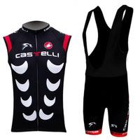 Free shipping/2013 CAS cycling sleeveless jersey and bib shorts/Ciclismo jersey/cycling vest/cycling gilet/bike clothing