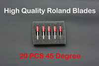 Free Shipping 20 pcs High Quality Cutter Blade for Roland GCC Cutting plotter vinyl cutter 45 Degree