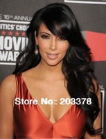 Front Lace Wig about 24inches Kim Kardashian Hairstyle Body Wave lace wigs free shipping