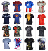 New Arrival G-Like Iron Men Spiderman Summer Sports Casual Breathable Quick Dry jersey T shirt