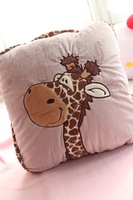 Pillow dual hwd polar bear lion tiger koala plush cushion thickening air conditioning blanket  FREE SHIPPING