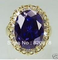 Fancy Noblest Genuine Alexandrite ring size 6-9# fashion jewelry