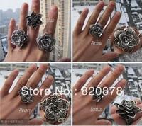 Wholesale handmade Tibet tibetan miao silver hand carved Men `s Rings fashion jewelry # 001 3PC/lot