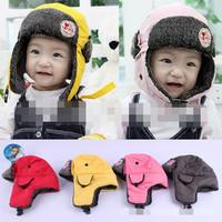 2014 Freeshipping Unisex Solid Sale Gorro And Winter Children Hat | Waterproof Snow Cap Baby Plush Earmuff Children's Hatssolid