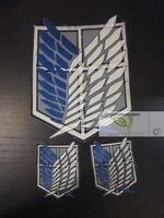 Anime Attack on Titan Cosplay Scouting Legion Badge 2+1 Pcs Accessories Costumes