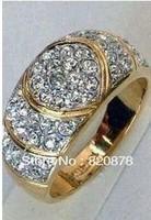 Wholesale 18KGP Men's women's Ring Size:7# fashion jewelry