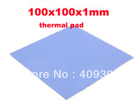 FREE SHIPPING 2pcs/lot 100x100x1mm Blue BGA Thermal Pad GPU CPU Heatsink Cooling Conductive Silicone thermal mat