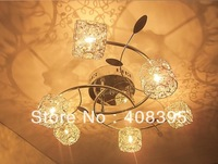 free shipping 20W G4 Circinate Iron Flush Mount Light Aluminum Shades Cry stal Light