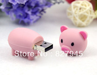 Hot! cute pig model USB 2.0 Enough Memory Stick Flash pen Drive 8G-32G