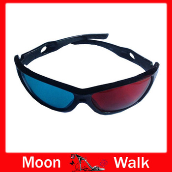 Red Blue 3D VISION & General Glasses Movie DVD Dimensional High Quality Plastic Frame Resin Lens Dimensional Anaglyphic