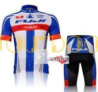 Free Shipping 2012 FUJI BLUE short sleeve cycling jerseys wear clothes bicycle/bike/riding jerseys+pants shorts