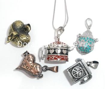 Free Shipping! 5 Mixed Magic Wish Boxes/Pots Charm Pendants (B05612)