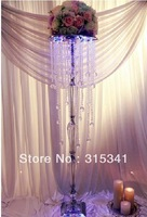 Free shipment OUGE-0015/ 10pcs/lots/ crystal wedding centerpiece/table centerpiece/118cm tall