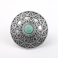 European and American Retro Style Jewelry Rings,Tibetan Silver Turquoise Rings for Women,Ring Size ResizableT5R51