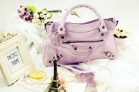 Bags fashion pink meat light purple black small Small motorcycle bag