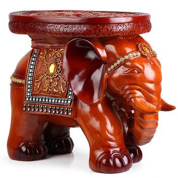 Lucky Large change a shoe stool resin craft elephant decoration elephant stool 1362