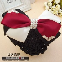 Hostess Professional Clerk Hair accessory Hair Net bow string bag Hair Pin Hair Flower Hair Clip