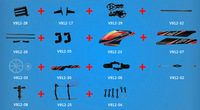 WLtoys V912 Spare Parts Canopy main blades tail blade Main Shaft Landing Skid Main Rotor Gears V912 RC Helicopter Free Shipping