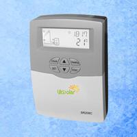 2pcs/lot New SR208C split solar water heater controller free shipping 600W 1 pt1000 and 2 ntc10k sensors 2 relays 220v 110v