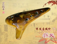 Ocarina,12 holes high pitch pottery ceramics flute 12 high-pitch f sf excellent 98  freeshipping