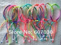 BARGAIN for BULK  Handmade Lot 20pcs 6mm Width Colorful Braid Cord Friendship Bracelets