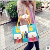 handbags women bags 2013 candy Color bag handbags Tote shoulder 3999