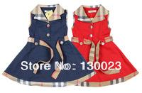 1pcs Baby Girls Sleeveless Dresses For 2-6Yrs Kids Plaid Dress Childrens Summer Clothing British Style Princess Navy Red White