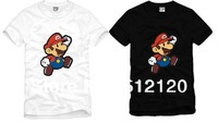 free shipping 2013 summer kids tshirt super mario printed Short Sleeve o neckT-Shirt for children 100% cotton