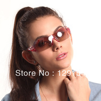 sunglasses male female ultra-light windproof rimless sunglasses riding eyewear