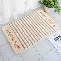 Quality embroidered floor mats soft absorbent import doormat bedroom floor mats carpet